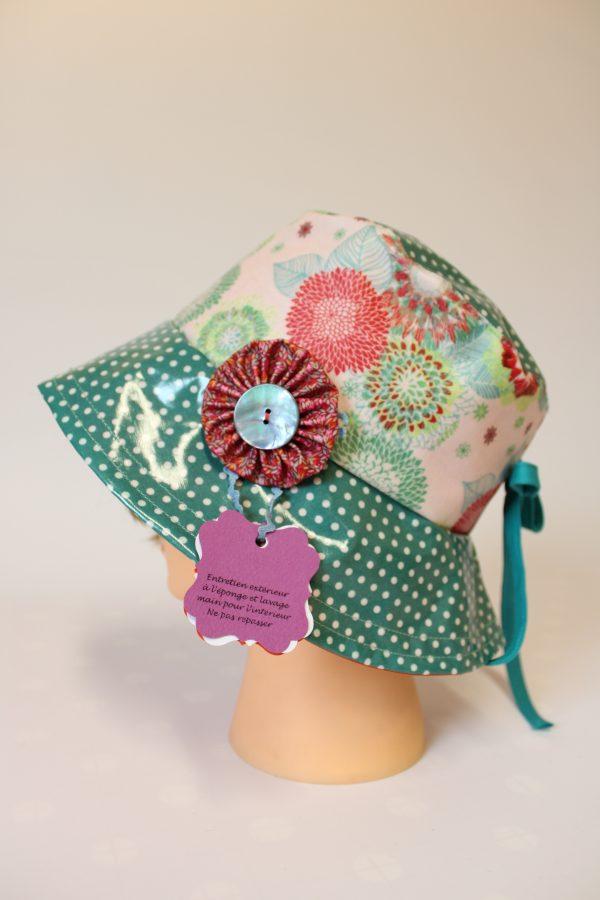 Chapeaux de Pluie, Hermine gouttelette, Création textile